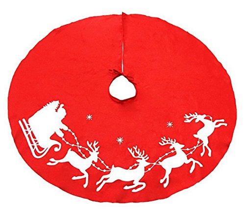 La vogue Weihnachtsbaum Rock Weihnachten Elch Baumständer Decke Christbaumdecke 100cm