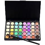 Yogogo Kosmetische Matte Lidschatten Creme Make-up Palette Schimmer Set, 40 Farbe + Pinsel Set(2#)