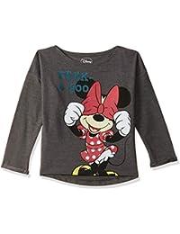Mickey & Friends Kids Girls Anthra Melange Color Sweatshirt