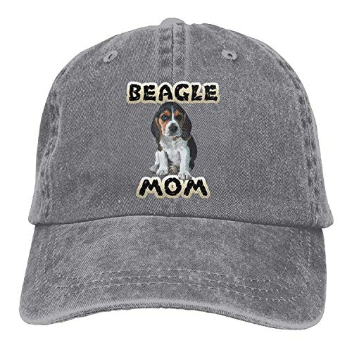 Beagle Mom Denim Hat Adjustable Women Vintage Baseball Hat -