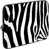 Sidorenko Tablet PC Tasche für 10-10.1 Zoll | Universal Tablet Schutzhülle | Hülle Sleeve Case Etui aus Neopren, Schwarz/Weiß