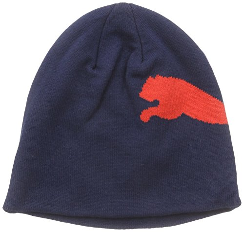 PUMA Herren Mütze No 1 Logo Beanie, Black Iris, Puma Red, Big Cat, One size, 834016 50