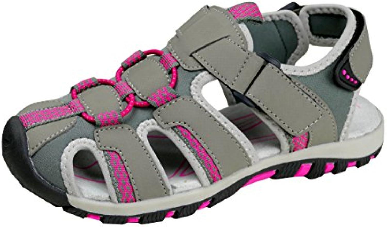 gibra Damen Trekkingsandalen Art. 0937 Sandalen mit Klettverschluss Grau/Pink Gr. 36-41
