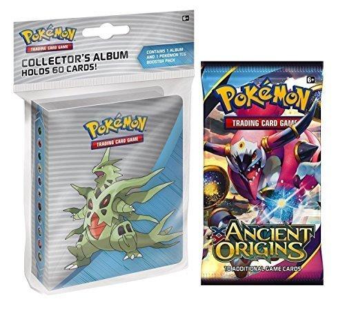 Pokemon X & Y Alten Ursprung Mini Binder mit Mega Tyranitar Mega Ampharos Mega sceptile + Booster Pack