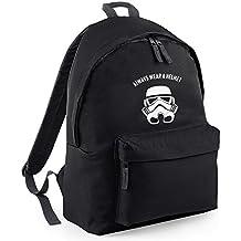 Inspirado siempre llevar un casco Trooper mochila de diseño bordado, bolsas de mochila