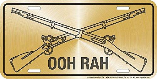 Embossed Metal Signs and Gifts Geprägter Metall-Schilder und Geschenke Marines Ooh RAH -