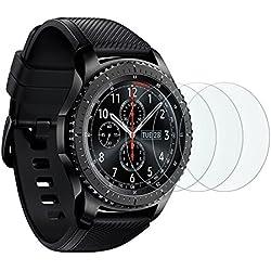 [3 Pièces] Film Samsung Galaxy Watch 46 mm/Gear S3 Frontier/Classic OMOTON Vitre Verre Trempé Protection D'écran 2.5D Film Protecteur [9 H]