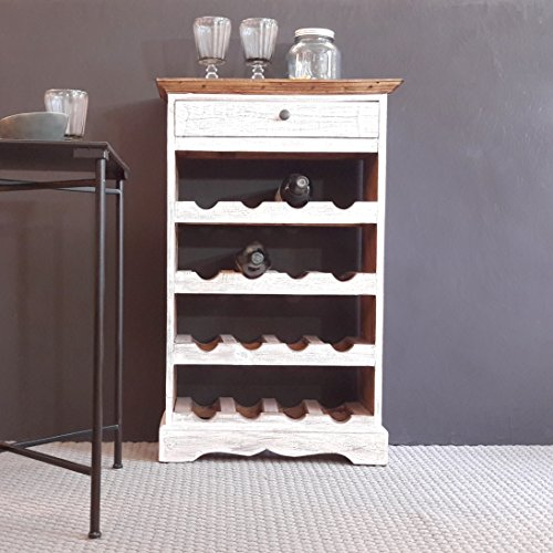Weinregal aus Massivholz in Shabby Recycled Wood Wine Rack