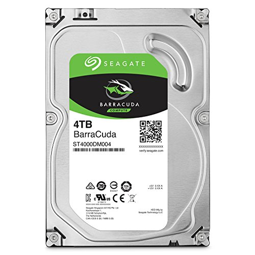 Seagate BarraCuda ST4000DM004 Disco duro interno de 4 TB (3,5', 256 MB de caché, SATA 6 GB/s, hasta 210 MB/s)
