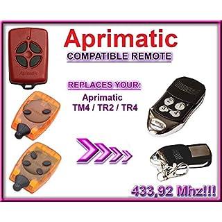 APRIMATIC TR2/TR4/TM4Kompatibel Fernbedienungen destancia. 433,92MHz