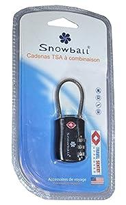 Cadenas de sécurité Antivol à code TSA ultra résistant pour valises, bagages,..- Snowball.
