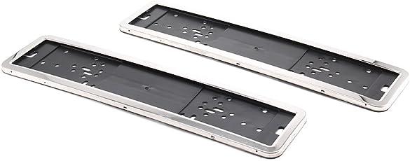 MultiWare 2 Stück Kennzeichenträger Edelstahl Kennzeichenhalter Auto Nummernschildhalter Nummernschilder Halter Kraftfahrzeugkennzeichen Nummernschildhalterung