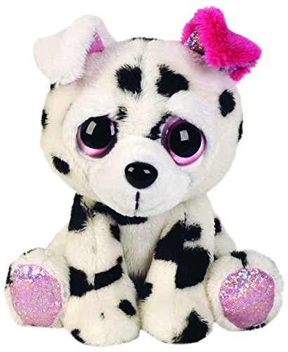 suki-gifts-lil-peepers-fun-dixie-dalmantian-with-pink-ear-plush-toy-with-pink-sparkle-accents-small-