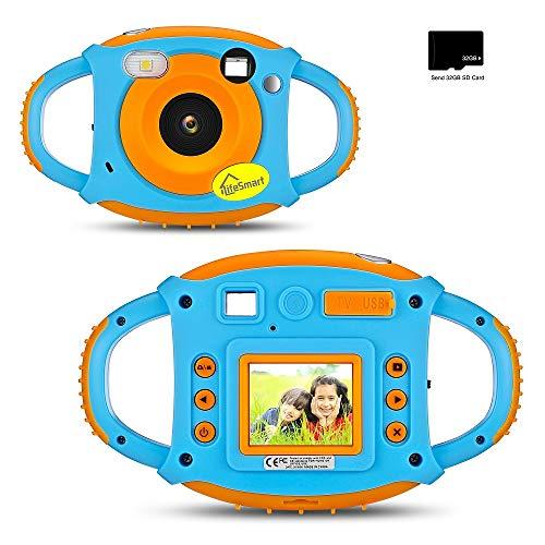 iLifeSmart Bambini Camera Macchina Fotografica per Bambini, 1.77' Fotocamera Digitale con Cornice per Foto a Schermo e Libera Scheda SD e USB