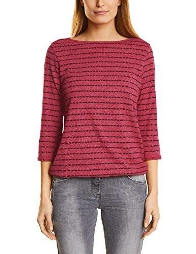 Cecil Damen Langarmshirt 311787, Rot (Salsa Red Melange 31208), Small (Salsa-t-shirt)