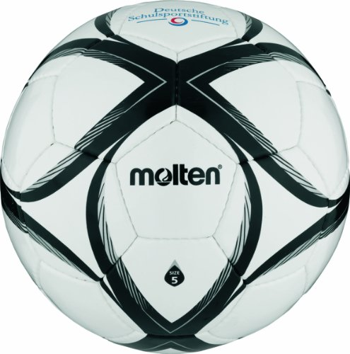 Molten - Balón de fútbol, color blanco/negro/plateado, talla 5