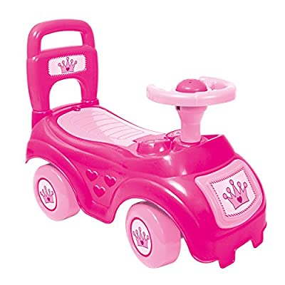 Toddlers Sit' N Ride Push Along Car Vehicle Toy Storage Under Seat Age 12+ Months Pink for Girls