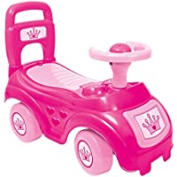 Dolu Children's Toddler Sit' N Ride Push Along Car Vehicle Toy Storage Under Seat Age 12+ Months - Available in Pink/Red