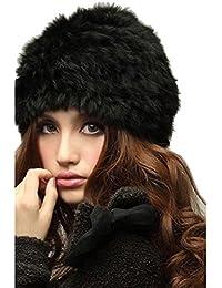 Chinatera Femme Russe Bonnet en Fourrure de Lapin Chaud pour l Hiver Warm  Beanie Hat 76c76f20f14