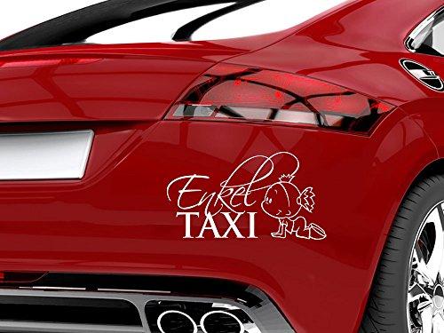 GRAZDesign 745015_10_010G Auto-Aufkleber Baby fürs Auto Spruch Enkel Taxi Mädchen | Geschenk zur Geburt - Heckscheiben-Aufkleber (18x10cm//010 weiß)
