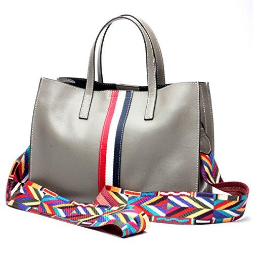 Signore Di Modo Semplice Messenger Bag Multi-color Gray