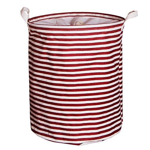 Andux Wäschesack Wäschekörbe/ZYL-01 (roter Streifen)