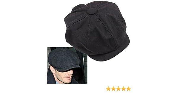 2c15ecab1 AST Works Plain Cabbie Newsboy Gatsby Cap Mens Ivy Hat Golf Driving Winter  Cold Flat Black