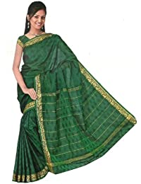 Indian Bollywood Sari Arco Iris Verde