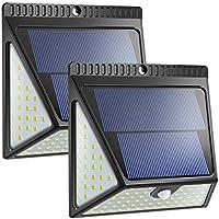 Lampada solare a 82 LED per esterni, versione aggiornata, Luce Solare Led Esterno con grandangolo per porte anteriori, cortile posteriore, portico, garage. Neloodony 2000LM Lampade Solar - 2 packsi