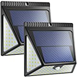Aufgerüstete 82 LED Solarlampen für den Außenbereich, Neloodony Bewegungssensor Solar Led Sicherheitslampen, kabellose wasserdichte superhelle Wandleuchten mit Weitwinkel für Vordertür. 2-pack