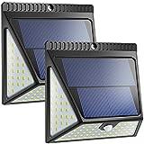 Neloodony Upgraded 82 LED Solar Lights Outdoor, Motion Sensor Solar Led Security Lights- 2 Pack