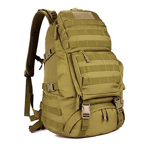 Rucksack Outdoor bergsteigen Beutel wasserdichte Reisen Double Shoulder Bag camouflage ride Tasche 49 * 34 * 20 cm, Wüste digital, 36-55 Liter Wolf Braun