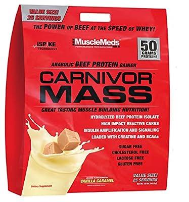 MuscleMeds 10 lbs Vanilla Caramel Carnivore Mass from MuscleMeds