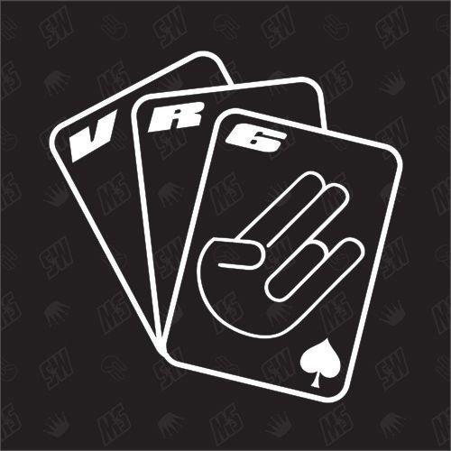 Preisvergleich Produktbild Spielkarten VR6 - Sticker