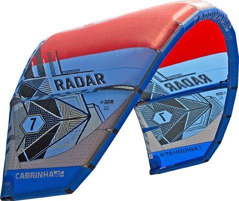 cabrinha Radar – Kite – 2017 by Wave Gorilla, rojo y azul, 7