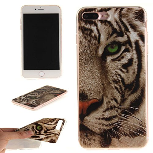 iPhone 7 Plus Custodia Slim Leggero Flessibile TPU Immagine Fiore Fucsia Case per Apple iPhone 7 Plus 5.5 Bianca Colore-11