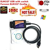 Forscan ELM327 USB Elmconfig dispositivo USB con interruttore OBD2 CAN BUS scanner strumento diagnostico per Ford Mazda Lincoln