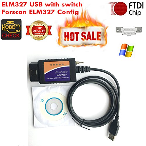 Forscan ELM327 USB Elmconfig OBD dispositivo con interruptor CAN BUS código de problema Scanner Diagnostic Tool para Amenrican Cars