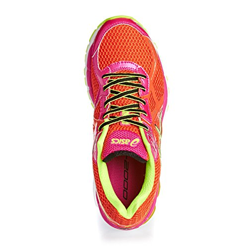ASICS GT-2000 3, Chaussures Multisport Outdoor Femmes Rouge (Cherry Tomato/Flash Yellow/Hot Pink 2107)