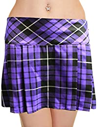 ee64f44a2d Crazy Chick Ladies Short Box Pleated Skirt, Elasticated Waist, Micro Mini  14
