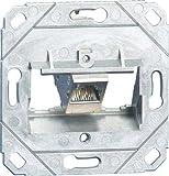 Unbekannt Metz Connect Anschlussdose, Cat.6A TN E-DATmod-1Up0 1xRJ45,Up0 E-DATmodul Kommunikationsanschlussdose Kupfer 4250184152316