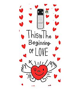 EPICCASE beginning of love Mobile Back Case Cover For LG K10 (Designer Case)