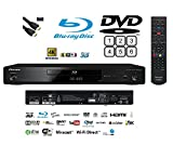 Pioneer Multiregion BDP-180 3D Blu-ray/DVD(MULTIREGION)/CD Player with 4K Upscaling and Integrated Wi-Fi and HDMI Lead BLACK