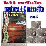 pasta pesca cefali pastella esca innesco + cefalara ciuffo ami cefalo mazzetta