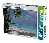 Malediven-Strand mit weißem Korallensand 1000 Teile Puzzle quer: Ein Traumurlaub am Indischen Ozean (CALVENDO Natur)