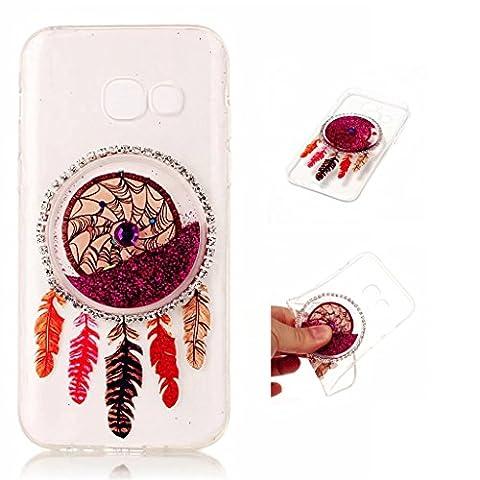 Samsung Galaxy A5 (2017) Case Cover MUTOUREN TPU Silicone feel good 3D transparent anti scratch bag case Premium TPU Shock Absorption mobile case-quicksand dreamcatcher 06