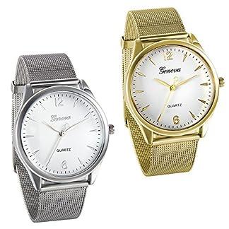 JewelryWe-Herren-Armbanduhr-Fashion-Elegant-Analog-Quarz-Uhr-mit-Edelstahl-Mesh-Armband-Farbe-Gold-Silber