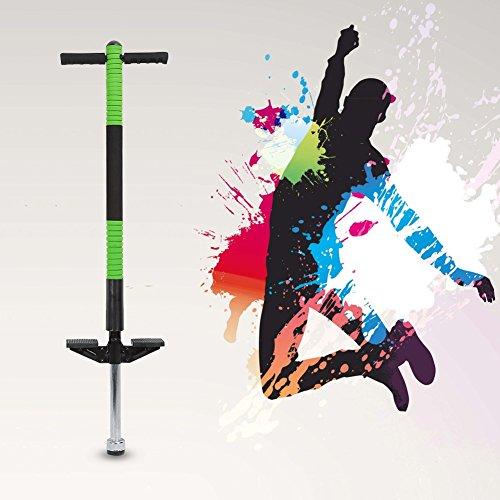 Pogo Stick Einzelne Bar Springstock Pogostick Hüpfstab Hüpfstange für Jungen und Mädchen Sport und Spaß (Grün) (Pogo Stick Grün)