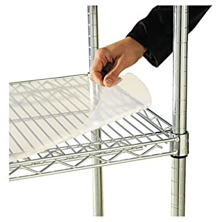 Alera : Shelf Liners For Wire Shelving, 48w x 24d, Clear Plastic, 4 Pack -:- Sold as 2 Packs of - 4 - / - Total of 8 Each by Alera
