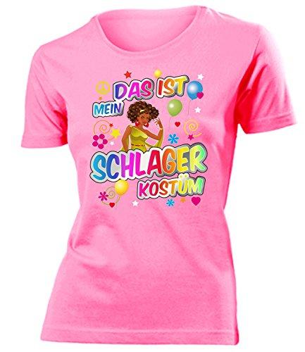Schlager Kostüm Frauen T-Shirt Karneval Fasching Motto Schlager Party Outfit Schlagershirt Faschingskostüm Schlagerkostüm Oberteil Accessoires - Karneval Kostüme Frauen